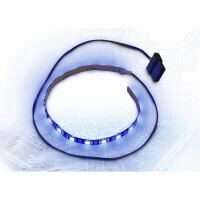 Banda LED Inter-Tech albastra 30cm Molex