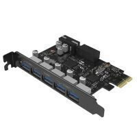 Adaptor Orico PVU3-5O2I 5 Port-uri USB 3.0 PCI-Express Card