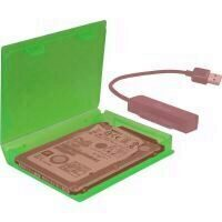 Cutie protectie hard disk Inter-Tech KP001A 2.5 inch verde