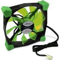 Ventilator Inter-Tech CobaNitrox Xtended N-120-GR 120mm LED verde