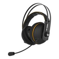 Casti gaming wireless Asus TUF H7 negre cu galben
