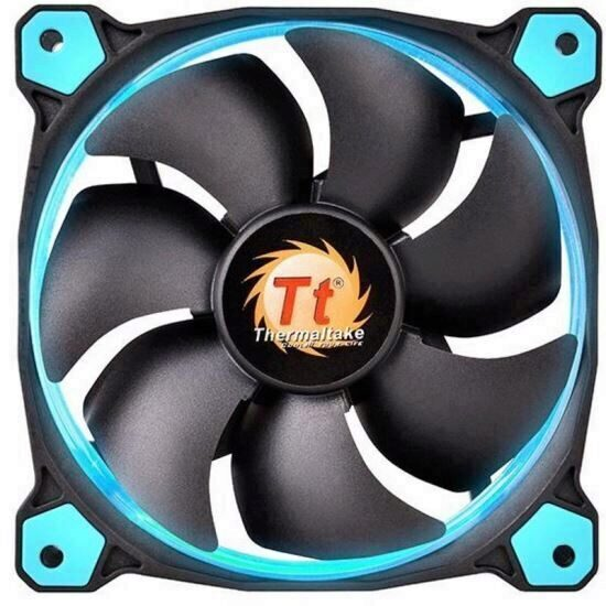 Ventilator Thermaltake Riing 12 High Static Pressure 120mm cu iluminare albastra