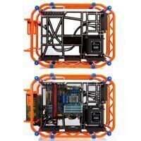 Carcasa In Win D-Frame portocalie Open-Air Chassis